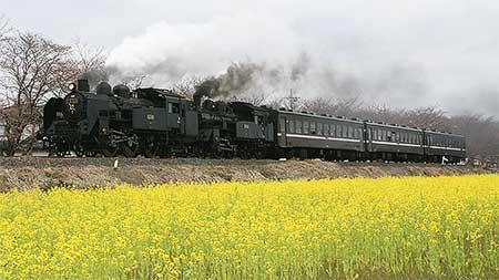 真岡鐵道で蒸機の重連運転