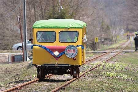 幌内線跡を利用した「三笠トロッコ鉄道」が開業
