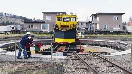 りくべつ鉄道で転車台特別展示説明会