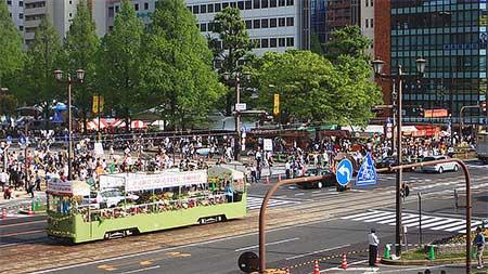 広島電鉄が花電車を運行