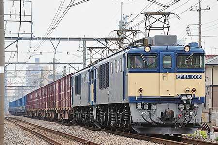 6789列車をEF64 1006+EF64 1016の原色重連がけん引