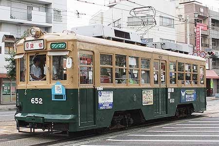 広島電鉄 650形「被爆電車」が貸切運転