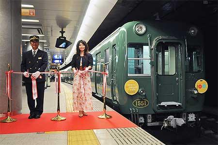「京阪ミュージアムトレイン」の展示が始まる