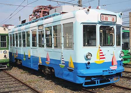 広島電鉄 2002+2003が塗装変更