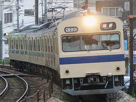 岡山電車区の103系が花火臨に
