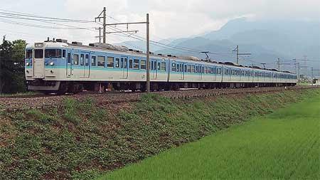 大糸線 定期普通列車を115系C編成が代走
