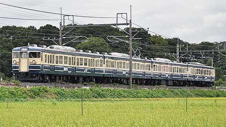 115系訓練車が豊田へ返却される