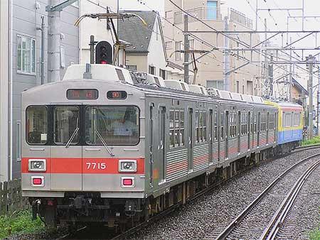 東急7700系7915編成が長津田検車区へ