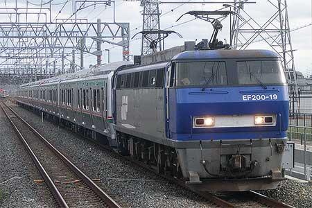 E721系2連×5本が甲種輸送される