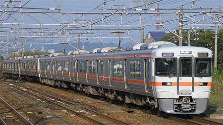 大垣車両区313系J3編成が中央本線運用に