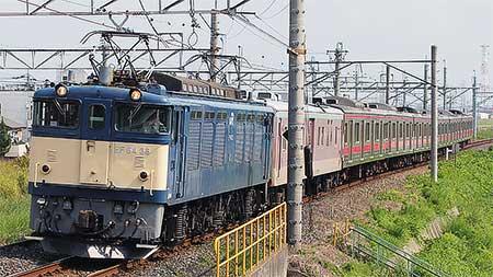 205系ケヨ6編成の中間車6両が長野総合車両センターへ