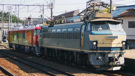 EH500-71が九州へ甲種輸送される