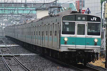 203系マト56編成が松戸車両センターへ返却される