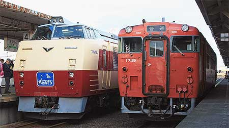 釧路駅で『キハ183-1さよなら展示会』