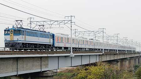 東武鉄道50090系甲種輸送をEF65 1127がけん引
