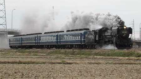 D51 498+12系,陸羽東線で試運転