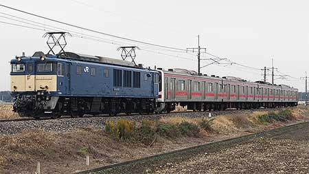 205系ケヨ3編成のうち4両が桐生へ