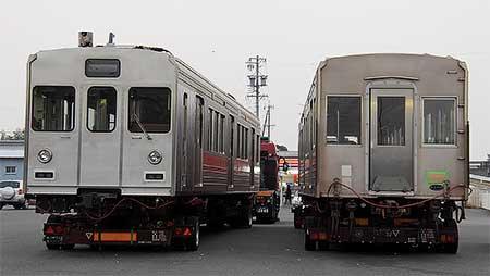東急1000系クハ1106+デハ1406が伊賀鉄道へ
