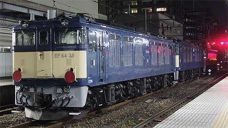 EF64 36+EF64 38が秋田総合車両センターへ