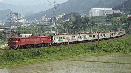 203系マト51編成が新潟貨物ターミナルへ