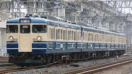 115系訓練車が豊田車両センターへ返却される