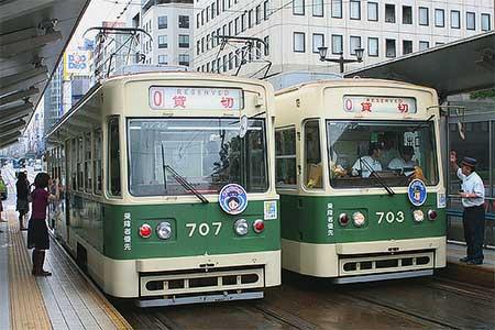 広島電鉄「七夕電車」を運転