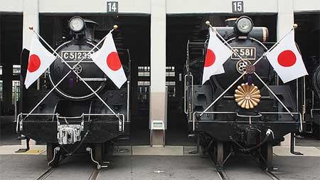 梅小路蒸気機関車館で特別展示『お召列車の「頭出し展示」』