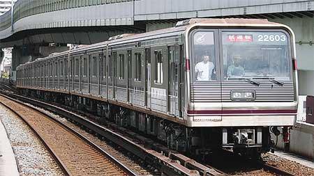 大阪市交通局谷町線用22系に更新改造車