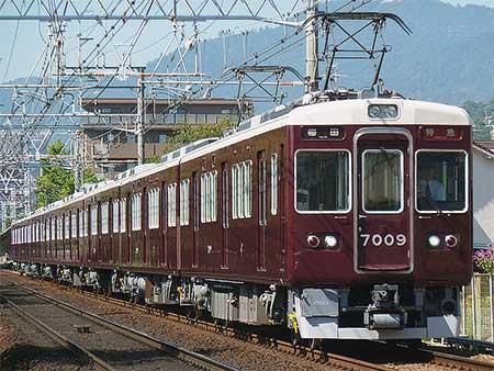 阪急7000系7009編成が運用復帰