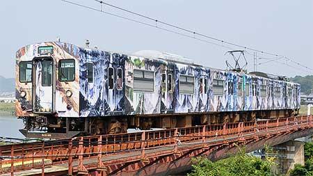 加古川線ラッピング電車「滝の音,電車の音」が運転を終える
