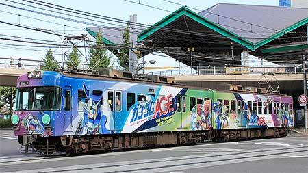 京阪 石山坂本線で「機動戦士ガンダムAGE」ラッピング電車を運転
