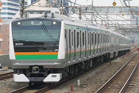 E233系3000番台NT4編成が武蔵小金井へ