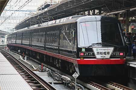 横浜駅で「黒船電車」の展示会