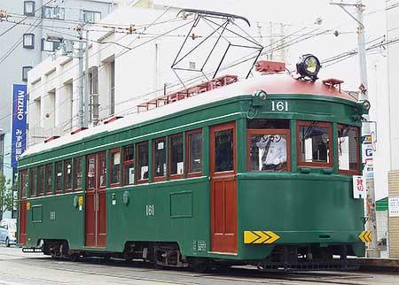 阪堺電軌で,モ161による貸切列車