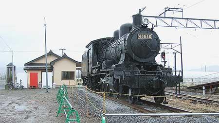 48640号機が弘南鉄道新里駅へ
