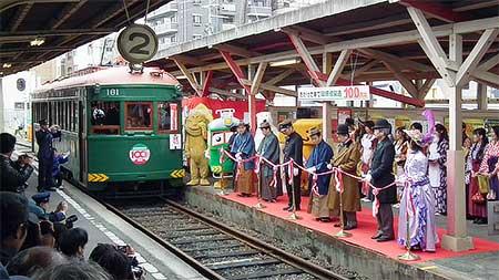 『阪堺線開通100周年記念セレモニー』開催