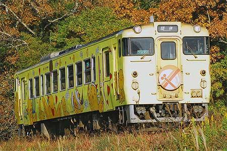 キハ40 2091「はばタン」が団体臨時列車に
