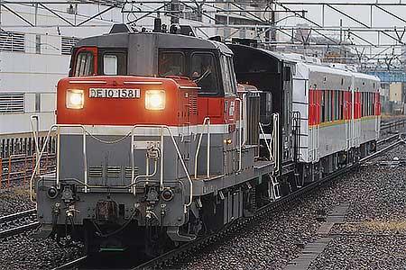 松浦鉄道MR-600形2両が甲種輸送される
