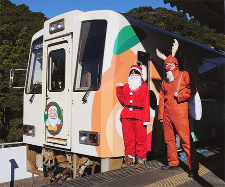 阿佐海岸鉄道で「サンタ列車」運転