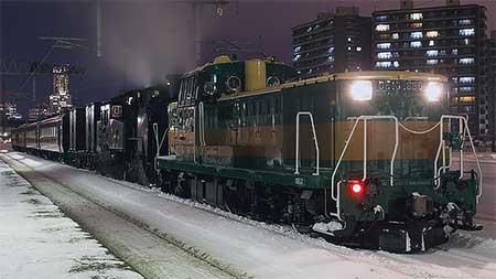 C11 207+14系座席車が,釧路へ