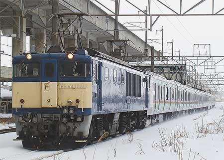 E233系3000番台NT8編成が配給輸送される