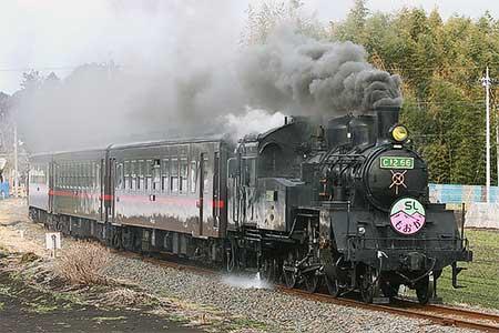 真岡鐵道C12 66に緑色ナンバープレート