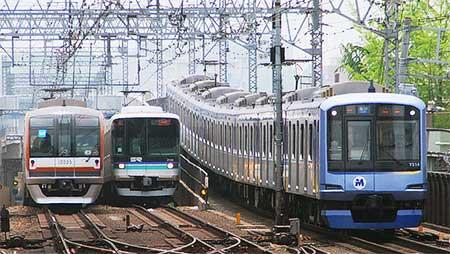 東京メトロ10000系が東横線・みなとみらい線で試運転
