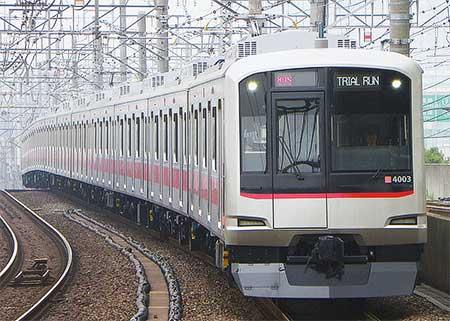 東急5050系4000番台2本が有楽町線で試運転