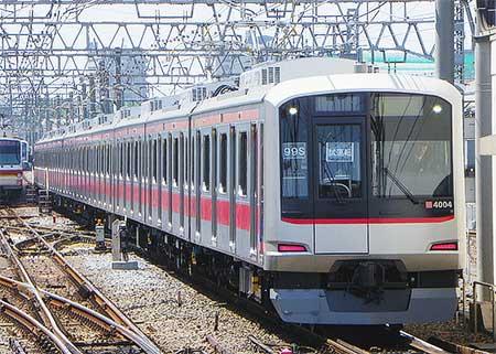 東急5050系4000番台4104編成が有楽町線・副都心線内で試運転を実施