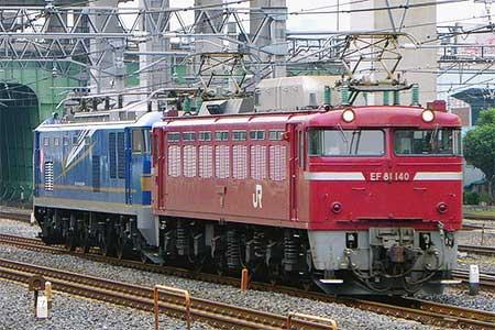 EF510-503が秋田総合車両センターを出場