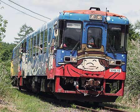 『りくべつ鉄道まつり』で本線走行