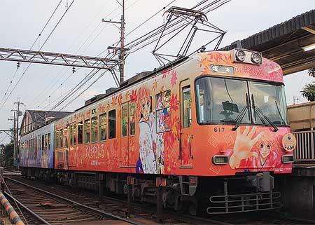 京阪大津線で「ちはやふる」ラッピング電車