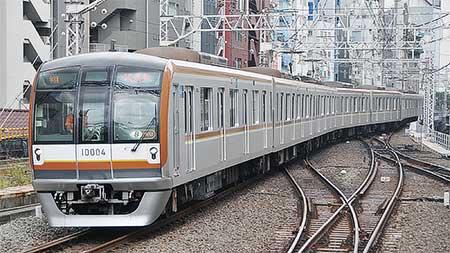 東京メトロ10000系が東横線渋谷駅に入線