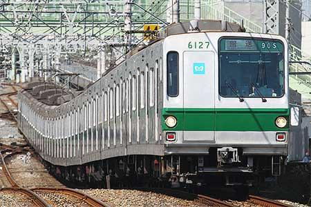 東京メトロ6000系6127編成が新木場へ